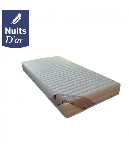 Up&Down Visco Matelas 70x190 pour Sommier électrique ou mécanique - Hauteur 20 Cm -