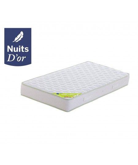 Nuitsd'or Matelas Densité 35 Kg/m3 - Hauteur 21 Cm - Soutien Souple - Orthopédique