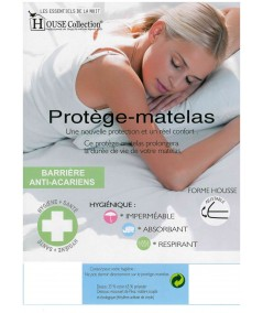 Matelas Mousse Poli Lattex Indéformable - Hauteur 19 cm - Soutien Très Ferme + 2 Protèges Matelas OFFERTS Luxe