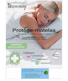Matelas Latex 80 Kg/m3 Hauteur 20 CM - Accueil Moelleux - Soutien Souple + 2 Protèges Matelas OFFERTS Rêve de Nuit