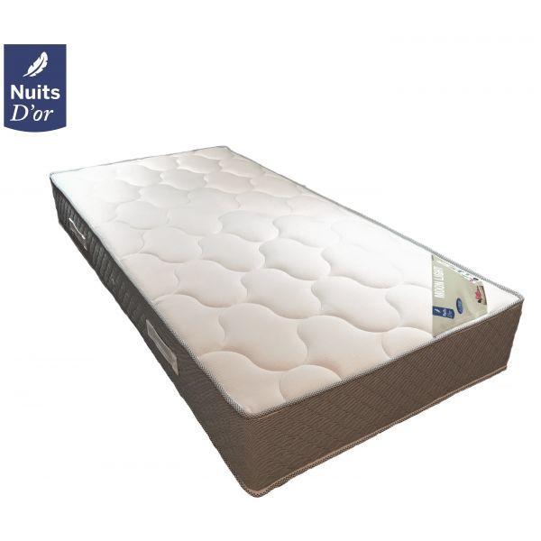 lot de 2 matelas mousse haute r silience hr 35 kg m3 hauteur 24 cm. Black Bedroom Furniture Sets. Home Design Ideas