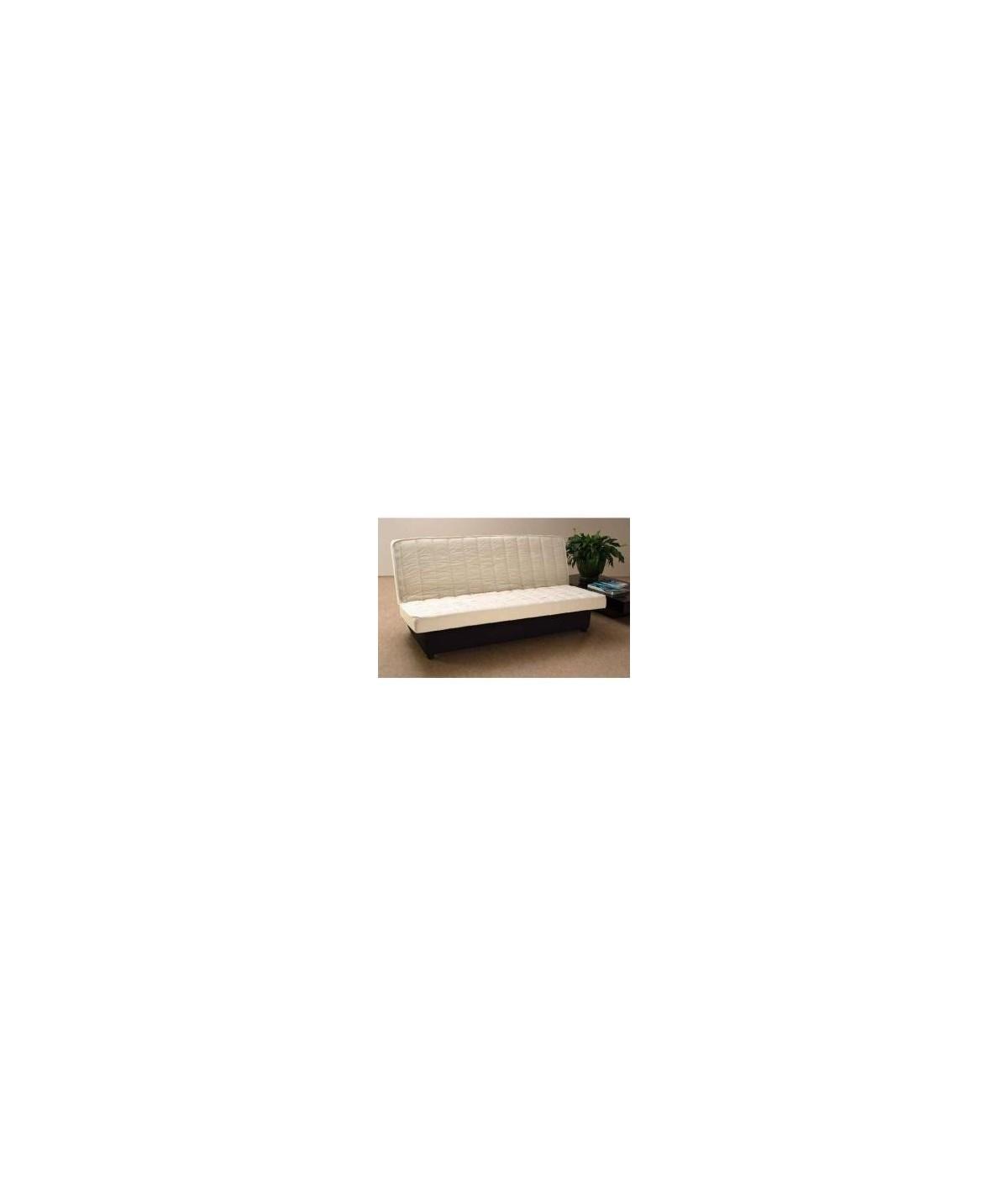 matelas clic clac 15cm latex naturel 80 kg/m3 + poli lattex
