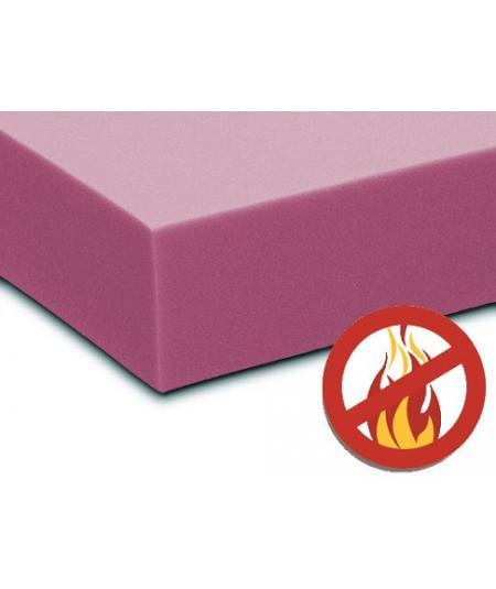 Matelas Tissu Ignifugé Hauteur 25 cm au Confort Très Ferme - Mousse Extrèmement Durable - anti feu