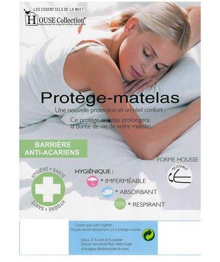 Protège Matelas Imperméable - Hygiènique - pour Matelas de 13 à 35 cm de Hauteur - Absorbant et Respirant - Barrière anti-Acari
