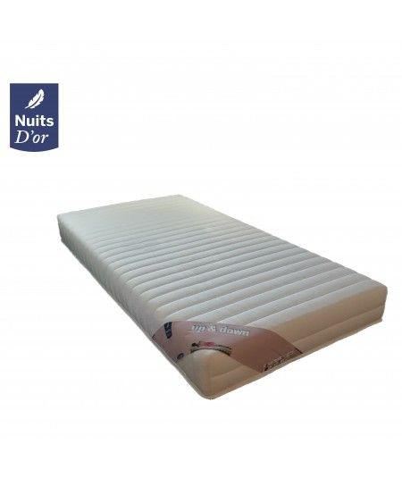 Up 2 x Mattress 70x190 Very Firm Density 35 Kg / m3 - 18 Cm + 2 Shape Memory Pillows