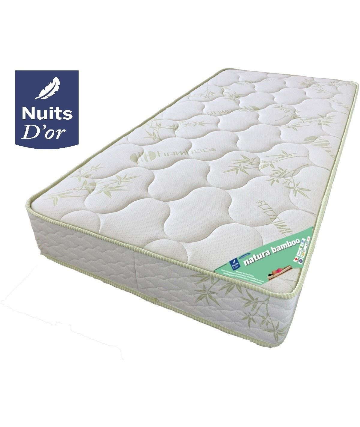 Bamboo Mattress Density 35 Kg / m3 - Height 21 Cm - Very Firm Support - Orthopedic