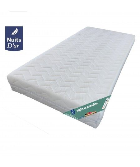 Night Mattress 70x190 FIRM - DEOUSSABLE Cover washable at 60Â ° C- Foam 35 Kg - 20 cm