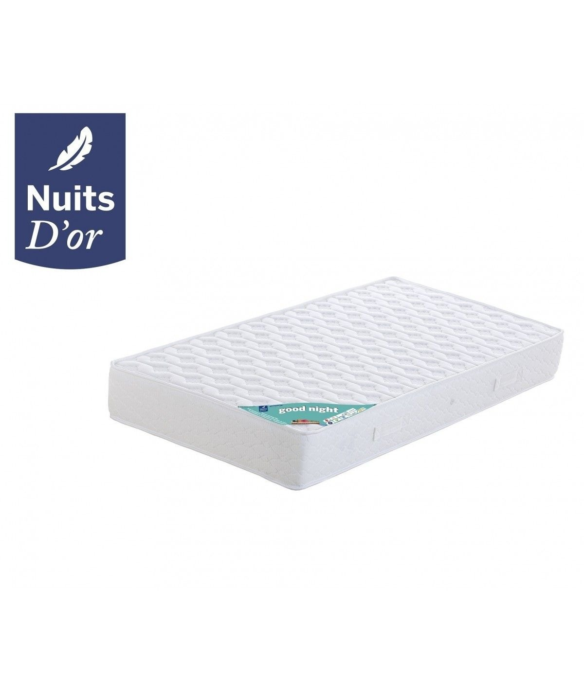 Goodnight Mattress 70x190 Farm Density 35 Kg / m3 - 21 Cm - Orthopedic + Memory Pillow Value 89