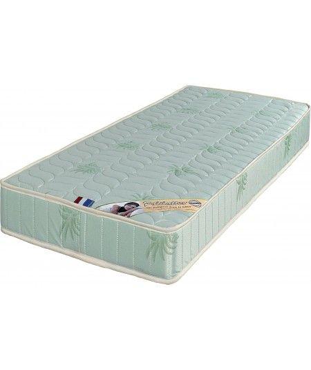 Luxe Matelas Très Ferme Mousse Poli Lattex Indéformable - Face Laine Merinos 100% -Tissu à l'Aloé Vera - 19 cm