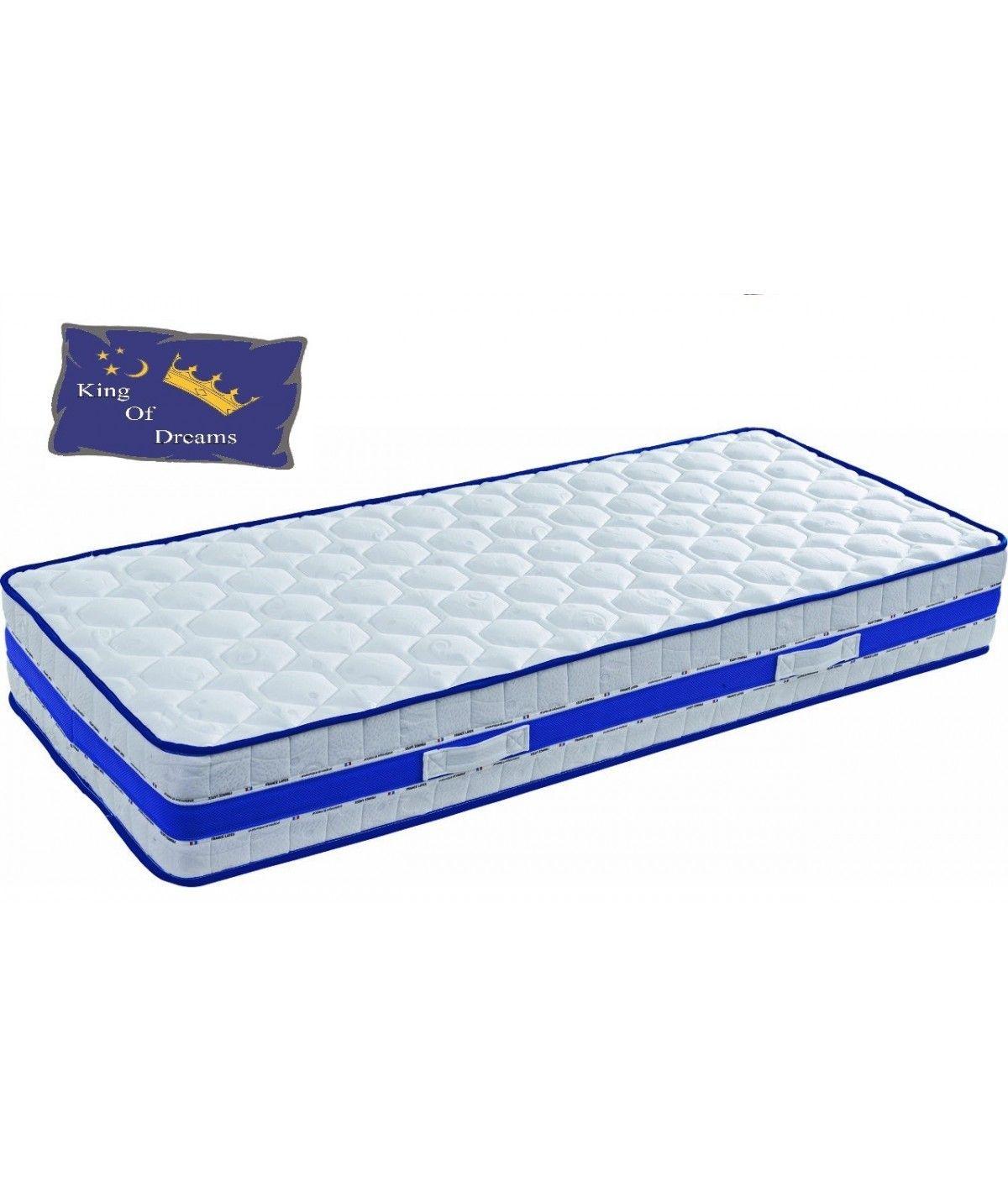 Lattex blue matelas 90x190 hauteur 29 cm face hiver avec laine merinos fa - Matelas face ete face hiver ...